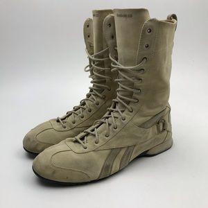 Reebok Shoes - Vintage Reebok Boxing Boots Shoes Suede Tan sz 12